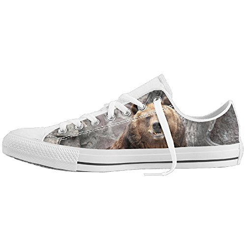 Bear Low-Cut Canvas Shoes Unisex Sneaker-All Season Casual Trainers For Men And Women ColourName (Costume National Shoes Online)