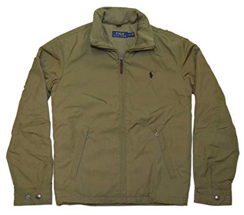 Ralph Lauren Polo Men Water Resistant Windbreaker Jacket Coat Olive Green Medium
