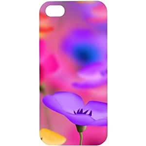 casotec Colorful diseño de flores carcasa rígida para Apple iPhone 5/5S