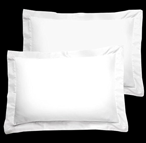 Flying Cart Brand New Hotel White Color 500-Thread Count Standard/Queen/Twin/Twin XL Size 20''x30'' Size 2pcs Pack Pillow cover Shams Pair 100% Egyptian Cotton Amazon Prime