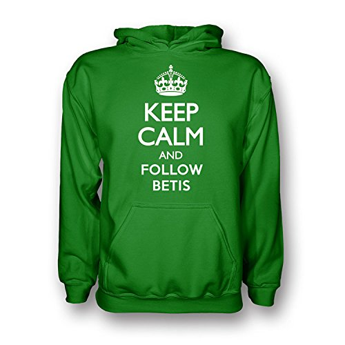 UKSoccershop Keep Calm and Follow Real Betis Hoody (Green) - Kids: Amazon.es: Deportes y aire libre