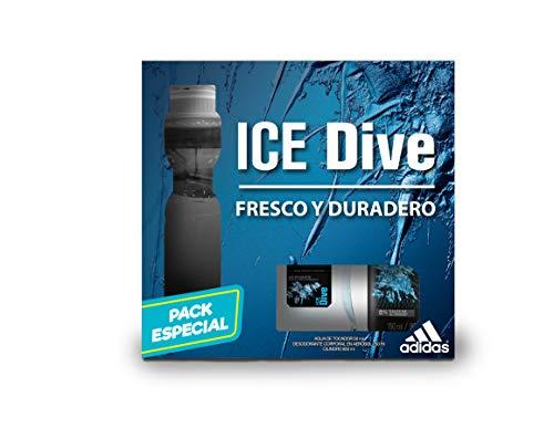 Adidas Eau de Toilette y Body Spray Ice Dive, 150 ml
