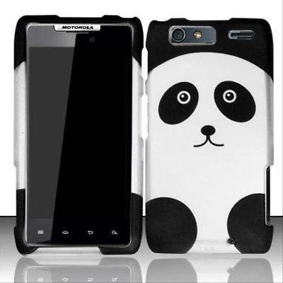 Design Rubberized Hard Case (Design Rubberized Hard Case for Motorola Droid RAZR Maxx XT913 - Panda)
