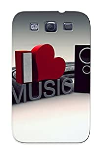 Excellent Galaxy S3 Case Tpu Cover Back Skin Protector Pc Music