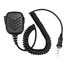 FANVERIM Handheld Lapel shoulder Speaker Mic Compatible For YAESU VX-6R/7R/6E/7E120/170 700/710/127 Radio Walkie talkie transceiver interphone