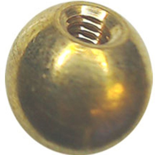 221 1/2'' threaded 8-32 brass balls drilled tapped lamp finials by Bearing Ball Store