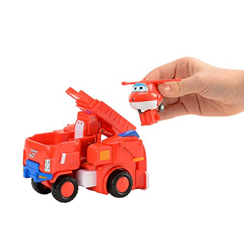 Super Wings - Robo Rig | Toy Vehicle Set |, Includes Transform-a-Bot Jett Figure | 2'' Scale by Super Wings - (Image #5)