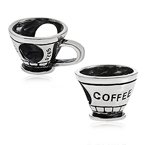 - Coffee Cup Charm 925 Sterling Silver Coffee Mug Bead Wine Charm Cola Charm for Bracelet