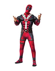 Rubies Costume Rubie's Men's Deadpool Deluxe Muscle Chest Costume and Mask