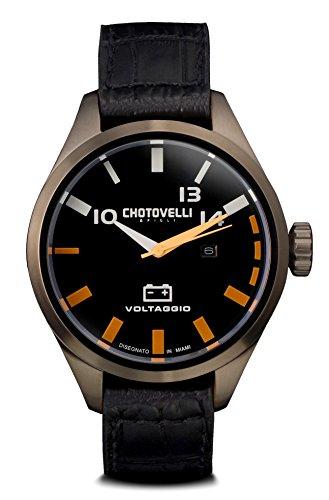 (Chotovelli Men's Pilot Watch Automotive Alfa Dial Italian Croco Leather Strap)