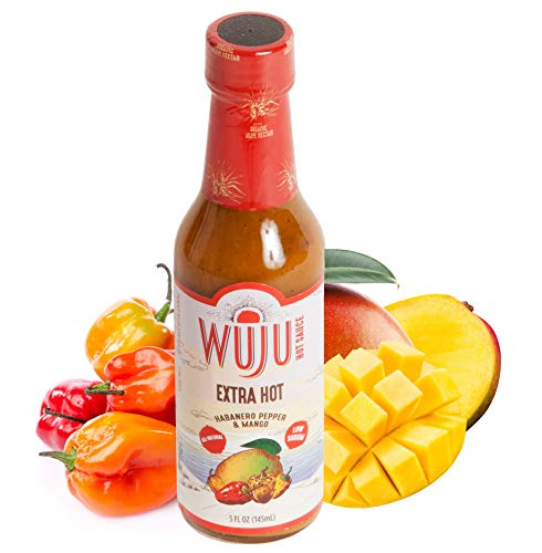 WUJU Extra Hot Sauce - Agave Based Hot Pepper Sauce - All-Natural Habanero Hot Sauce With Diverse Ingredients - Gourmet Hot Sauce - Hot Hot Sauce, Low Sodium, No Preservatives - 5 Ounces