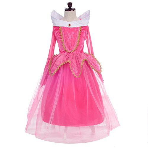 Fancy Dress Costumes For Christmas (Dressy Daisy Girls' Sleeping Beauty Princess Aurora Costume Fancy Party Dresses Size 4 / 5)