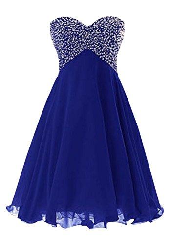 Royal Junior Prom Chiffon Drasawee Bridesmaid Short Blue Dress Gown Ball Party Homecoming 4XwvxUv
