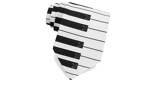 Corbata de microfibra blanca con diseño de teclas de piano: Amazon ...