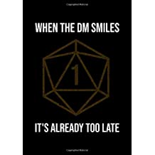 """RPG Dotted Notebook: Dot Grid Gaming Book (0.2""""x0.2""""): When the DM smiles it's already too late"""