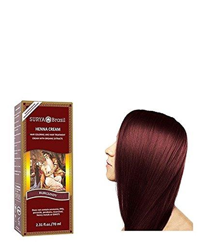 Surya Nature Henna Burgundy Cream - 2.37 Ounce (Pack of 2)