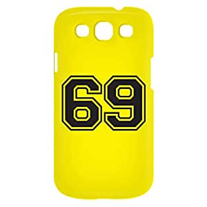 Loud Universe Samsung Galaxy S3 Number 69 Print 3D Wrap Around Case - Yellow/Black