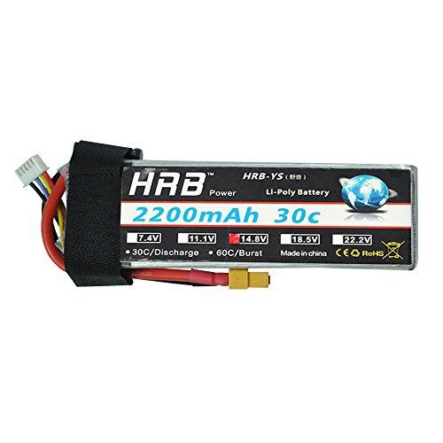 HRB 4S 14.8V 2200Mah 30-60C RC LiPo Battery XT60 Plug For AQV 250 300 Quadcopter RC Car Truck Boat Hobby