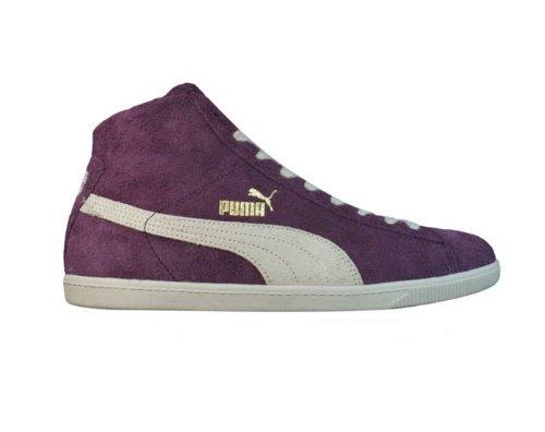 Puma Glyde Mitten Vintage Mens Läder Mocka Sneakers / Skor - Lila