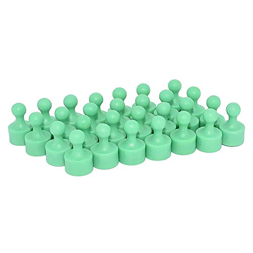 24 Magnetic Push Pin Miniature Game Piece Pawn Magnets, Useful for Fun Fridge, Cabinets, Office, Map Magnets, Kitchen Magnets, Whiteboard Magnets, Photo Magnets, Colorful Magnets and More Green
