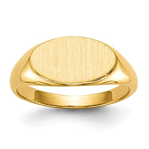 14k Yellow Gold 7.0x12.0mm Childs Signet Band Ring Size 4.00 Fine Jewelry Gifts For Women For - Ring Yellow Signet Childrens Gold