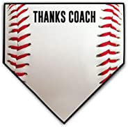 ChalkTalkSPORTS Baseball Coach Home Plate Plaque   Thank You Coach   Ready to Autograph