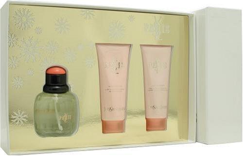 (Paris By Yves Saint Laurent For Women. Set-edt Spray 2.5 Ounces & Body Lotion 2.5 Ounces & Shower Gel 2.5 Ounces)