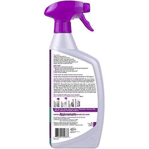Rejuvenate Scrub Free Soap Scum Remover Shower Glass Door Cleaner 24oz Works on Ceramic Tile, Chrome, Plastic and More