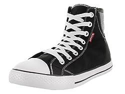 Levis Jeans Hamilton Buck Men's Hightop Sneakers Shoes Red Size 9