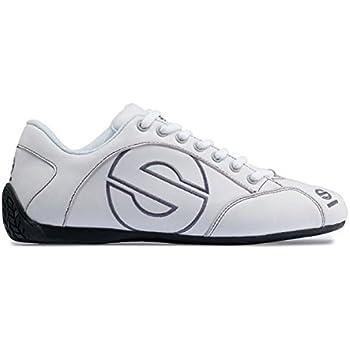 Sparco 00120146BI Esse White Size-46 Leather Shoe