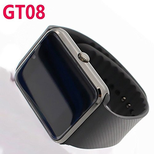 GT08 Bluetooth Smart Watch SmartWatch with Camera for iPhone and Android Smartphones (Black)
