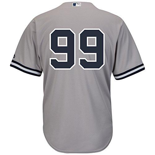 Aaron Judge New York Yankees Road Gray Cool Base Men's Jersey (Number Only) (Medium)