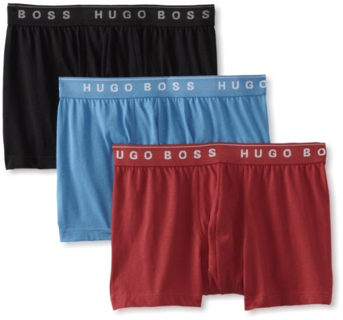 BOSS+HUGO+BOSS+Men%27s+3-Pack+Cotton+Trunk%2C+Sky+Blue%2FRed%2FBlack%2C+Large