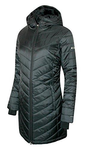 Columbia Women's Morning Light II Omni Heat Long Jacket Coat Puffer, BLACK (M) by Columbia (Image #1)