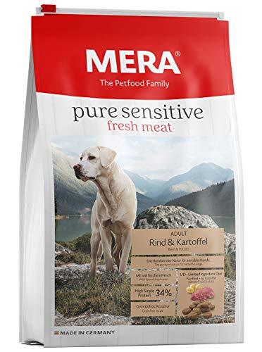 MERA pure sensitive fresh meat Adult Rind und Kartoffel Hundefutter – Trockenfutter für Hunde mit einer Rezeptur ohne…