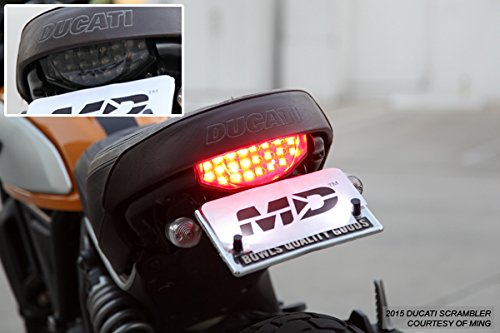 Integrated Sequential LED Tail Lights Smoke Lens for 2015-2018 Ducati Scrambler