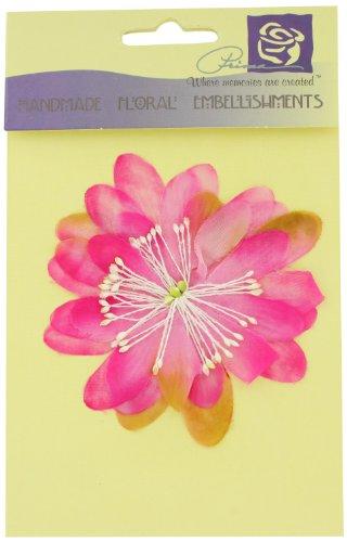(Prima 500665 Fabric Silk Flower Embellishment, Pink, 3-Inch)