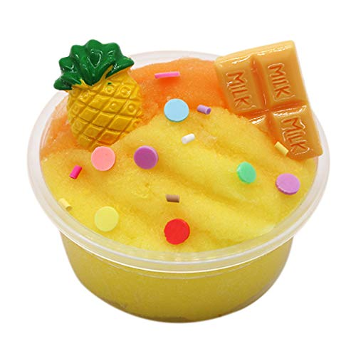 KINGOLDON Fruits Chocolate Cotton Mud Puff Slime Putty Scented Stress Kids Clay Toy ()