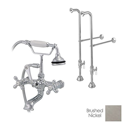 Telephone Tub Faucet - Randolph Morris Freestanding British Telephone Clawfoot Tub Faucet w/ Handshower