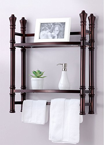 Best Living Monaco Wall Mount/Countertop Etagere Shelf, Oil Rubbed Bronze - Wall Mount Shelving Unit