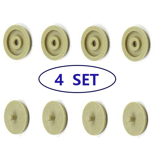 Seat Belt Stop Button Buttons Prevent Seatbelt Buckle from Sliding Down The Belt Set of 4 Plastic Seat-Belt Stopper Clips Snap-On System No Welding Required Beige ()