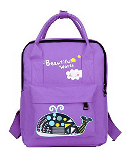 Daypacks Aalardom Dos Violet Mode À tsfbh181092 Sacs Daypack De Zippers Femme Randonnée Nylon qqCwFr