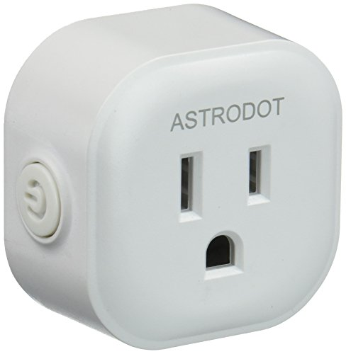 Wifi Smart Plug Mini, Astrodot Smart Home Power Control Socket, Remote Control Your Household Equipment from Everywhere, No Hub Required, Compatible with Alexa, Echo Dot & Google Home (1 Pack) -  E71727