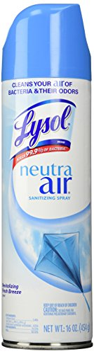 Lysol Neutra Air Sanitizing Spray, Air Freshener, Revitalizing Fresh Breeze, 16 oz