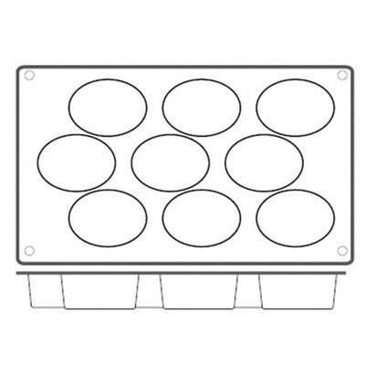 Non Stick Oval Mold [Set of 2]