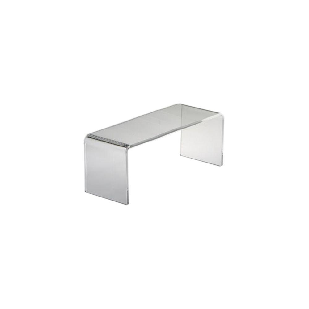 Clear Solutions 8282 Acrylic 10'' x 4'' Rectangular Riser