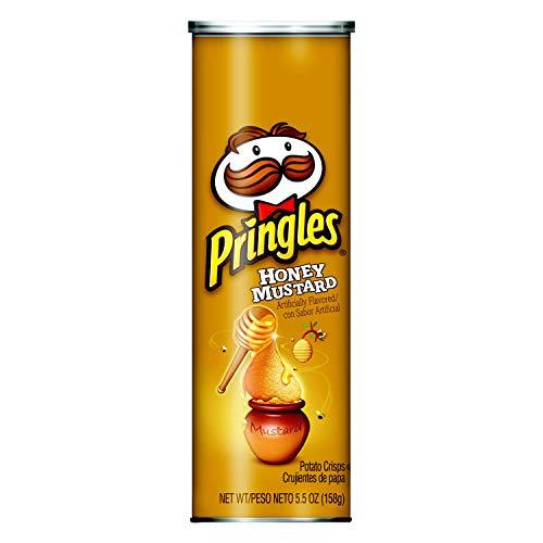 Pringles Potato Crisps Chips, Honey Mustard Flavored, 5.5 oz Can(Pack of 14)