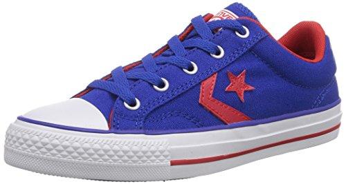 Converse Star Player Ox, Baskets mode mixte adulte Bleu (Bleu/Rouge)