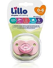 Chupeta Soft Calming 100% Silicone Simétrico Tam 1 - Lillo, Rosa