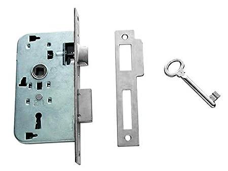 Entrada 40mm Latonado Tesa Assa Abloy 200540HL Cerradura de embutir para puertas de madera